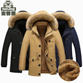 High Quality 2016 New Brand JEEP Winter Men's Jacket Thick Coat Velvet Overcoat Cotton Casual Jackets Male Puls Size 5XL MJ125