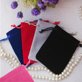 "Velvet Gift Pouch 9x12cm (3.5""x4.75"") pack of 50 Watch Necklace Bracelets Jewelry Drawstring Packaging Pouch"