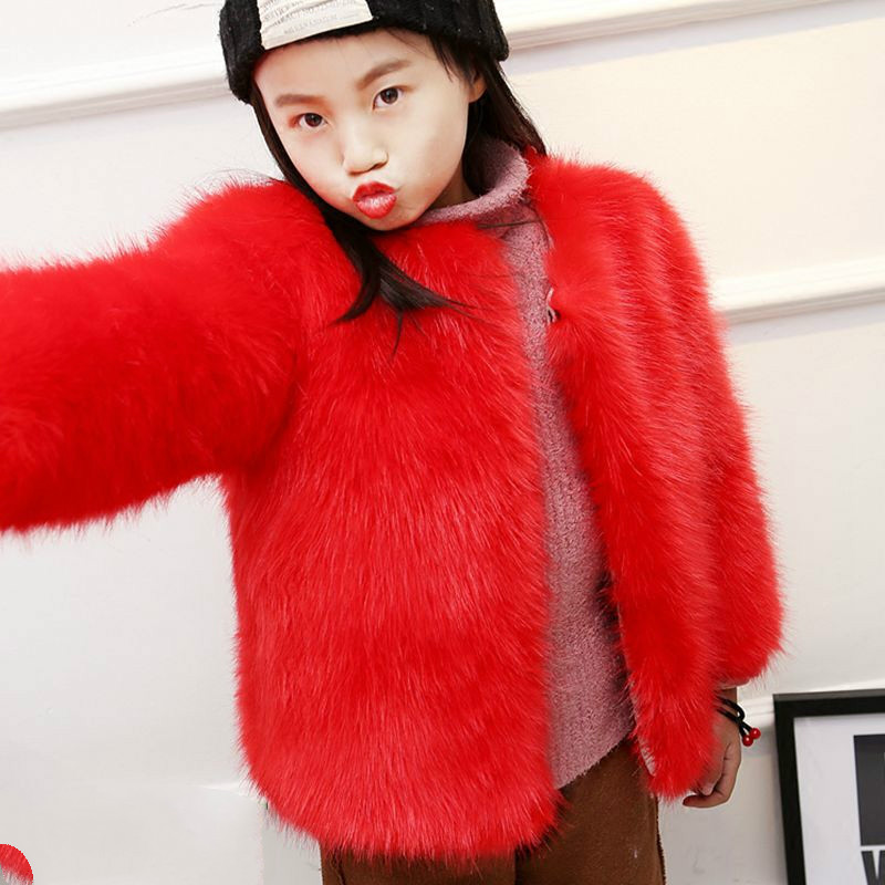 1c8071a333897 Toddler Faux Fur Jacket Cute Lolita Children Thick Clothes Girl Fashion  Winter Plus size Coat Baby Warm Loose Outerwear WQ2-in Jackets   Coats from  Mother ...