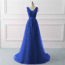 0789bdde1e1a Applique Blue Tulle Prom Dress - Compra lotes baratos de Applique ...