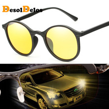 DesolDelos Hot Sale Men Mirror Polarized Sunglasses Women Round Black Frame Sport Glasses Unisex Driving Eyewear цена 2017