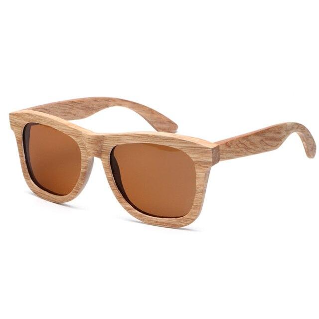 4bfae8f12c64f8 Ablibi Natuurlijke Hout Gepolariseerde Zonnebril voor Mannen Handgemaakte  Bamboe Houten Drijvende Schaduw in Hout Gift Pakket