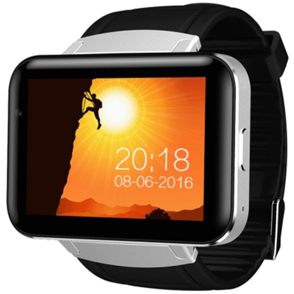 imágenes para Domino dm98 teléfono de 2.2 pulgadas android 4.4 3g smart watch MTK6572 Dual Core 1.2 GHz 4 GB ROM Cámara Bluetooth 4.0 GPS Smartwatch