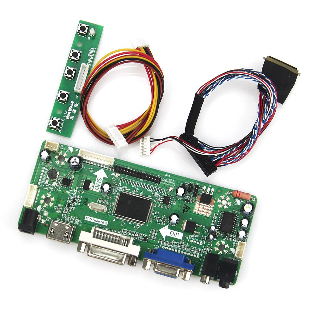 M.NT68676 LCD/LED Controller Driver Board(HDMI+VGA+DVI+Audio) For N164HGE-L12 LVDS Monitor Reuse Laptop 1920*1080