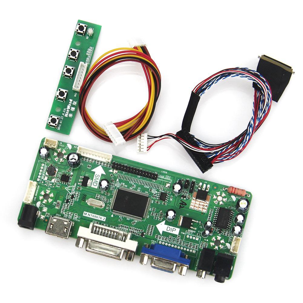 Für N164hge-l12 Lvds Monitor Wiederverwendung Laptop 1920*1080 Starker Widerstand Gegen Hitze Und Starkes Tragen M hdmi + Vga + Dvi + Audio Nt68676 Lcd/led Controller Driver Board