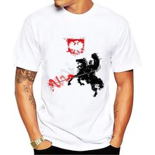 POLAND power cavalry knight Artistic t shirt men 2018 summer new white casual homme cool Polish hussar tshirt(China)