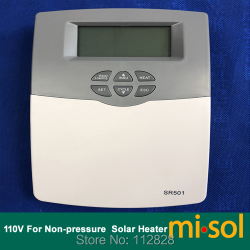 110V Intelligent Controller for Compact non pressurized Solar Water Heater 1 pcs of 220v intelligent controller for compact non pressurized solar water heater ms swh src 500 b