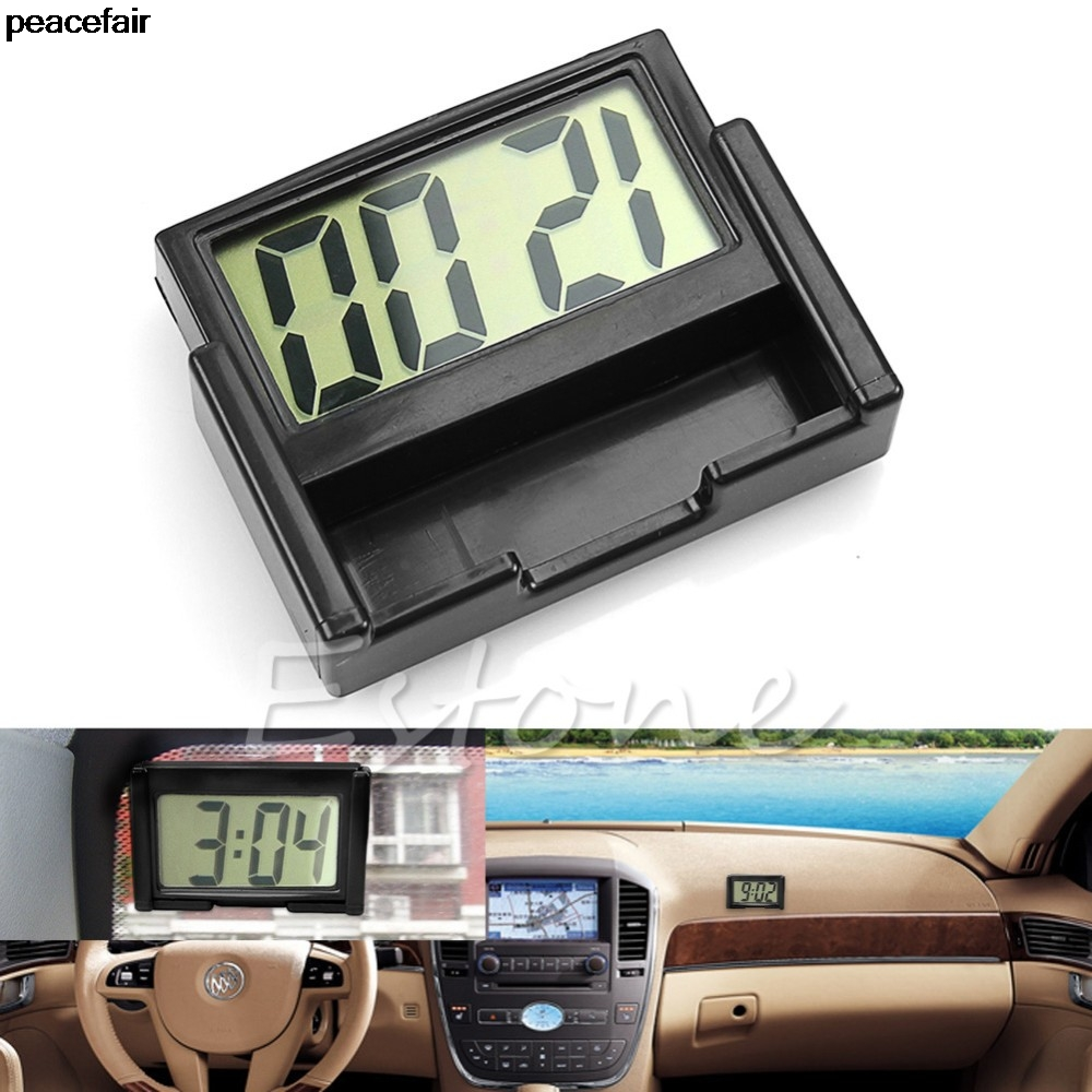 peacefair interior car auto dashboard desk digital clock lcd screen self adhesive bracket in. Black Bedroom Furniture Sets. Home Design Ideas
