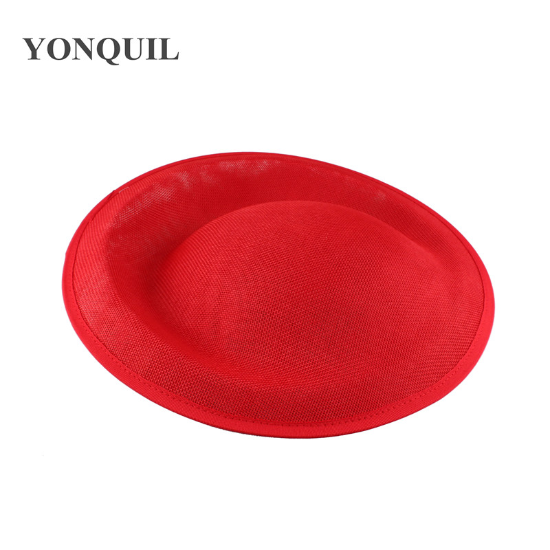 30 см большие millinery вуалетки база красные вечерние шляпы имитация Sinamay DIY аксессуары для волос Коктейльные головные уборы 3 Цвета Новое поступление - Цвет: Красный