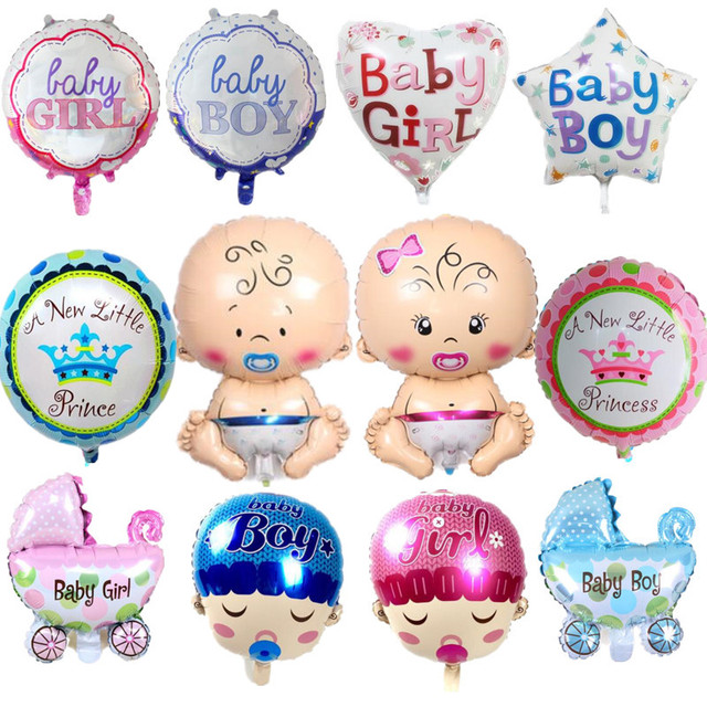 Baby Girl Baby Boy 1st Birthday Party Foil Balloons For Baby Shower