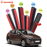 Full Car Rubber Sealing Seal Strip Kit Weatherstrip Edge Trim Noise Insulation Waterproof For Peugeot 3008