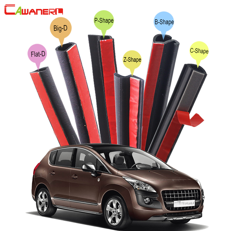 Cawanerl Full Car Rubber Sealing Seal Strip Kit Weatherstrip Edge Trim Noise Insulation For Peugeot 3008 4007 5008 2008 4008 cawanerl car sealing strip kit weatherstrip rubber seal edging trim anti noise for nissan almera march micra note pixo platina