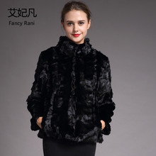 Black Mandarin Collar Mink Fur Coat Winter Warm Women Natural Real Fur Coat Female 2018 Fashion New Genuine Mink Fur Coat&Jacket