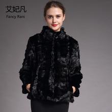 Zwart Mandarijn Kraag Mink Fur Coat Winter Warm Vrouwen Natuurlijke Echte Bontjas Vrouwelijke 2018 Fashion Nieuwe Echt Mink Fur coat & Jacket