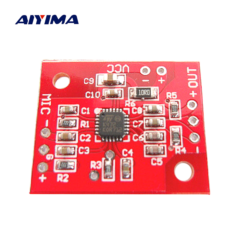 Aiyima K472 Low Noise Electret Microphones Amplifier Board For The Equalizer Circuit Differential Output And Single Ended In From Consumer Electronics On