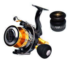 YUYU quality Metal Fishing Reel spinning 6+1BB 1000-7000 series spinning reel Metal spool no gap pesca with spare spool все цены