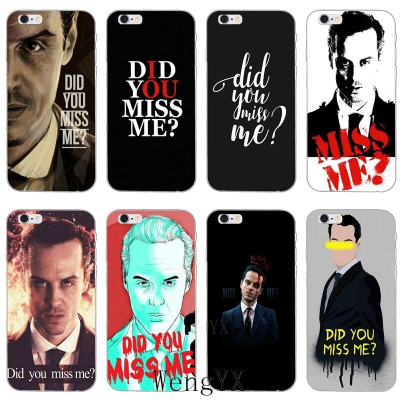 Вы mi ss мне Мориарти Шерлок ультра тонкий ТПУ мягкий чехол для телефона Xiaomi mi 6 6X A1 5 5S 5x4 4c 3 mi х Макс 2 Примечание 2