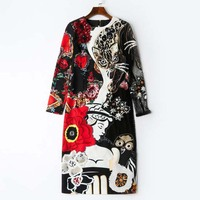 WVLDDBL 3d cartoon dress black print dresses high quality black dresses 181202