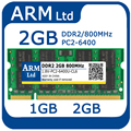 ОПЕРАТИВНОЙ ПАМЯТИ DDR2 2 ГБ 667/800 МГц sodimm Memoria 1 ГБ ddr 2 PC2-6400 5300 ноутбук памяти быстро доставка