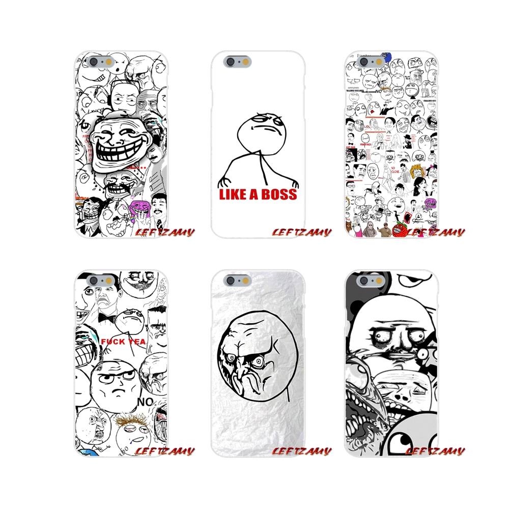 Accessories Phone Cases Covers Rage Comics Face Meme For Samsung Galaxy A3 A5 A7 J1 J2 J3 J5 J7 2015 2016 2017 image