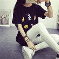 plus big size tops blusas feminina spring summer style 2016 korean fashion women t shirts Cartoon Long T-shirt cute kawaii A0092
