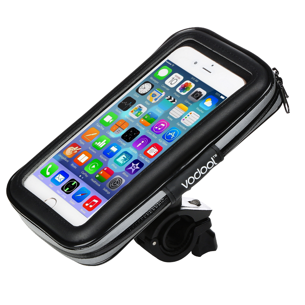 VODOOL 360 degree rotating Bicycle Mount Holder rainproof Bag WaterProof Touch Screen Holster Case For Universal phone 5.5 inch 360 degree rotatable motorcycle mount holder w waterproof bag for iphone 4 4s black