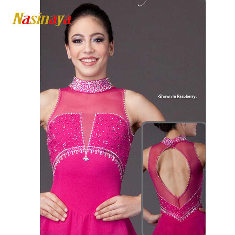 Платье для фигурного катания под заказ, для соревнований по фигурному катанию юбки для конькобежцев для девочек, для девочек, для детей, Patinaje, для гимнастики, 316