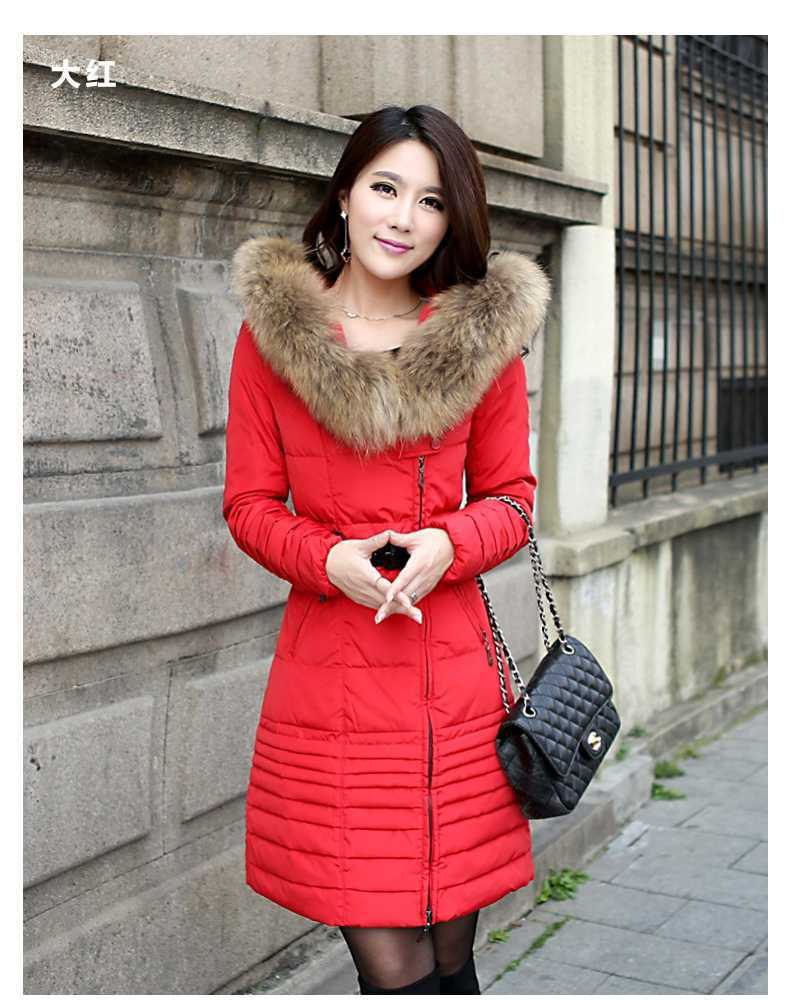 2015 New Winter Jacket Woman's Outerwear Slim Hooded Down Jacket Female Fur Collar Thickening Warm Jacket Coat H4226 new arrival hotsale 2015 fashion winter warm large fur collar down coat medium long demale thickening outerwear