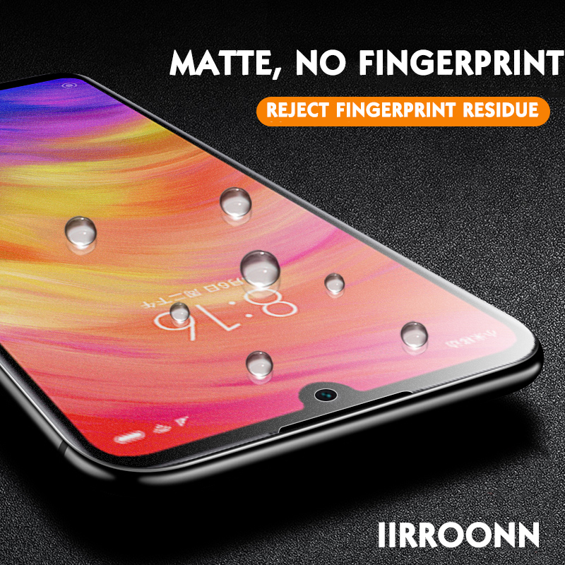 Image 2 - 2PCS Matte Tempered Glass For Xiaomi Redmi Note 7 6 Pro Screen Protector for Xiaomi Redmi note7 pro Protective Glass For Redmi 7-in Phone Screen Protectors from Cellphones & Telecommunications