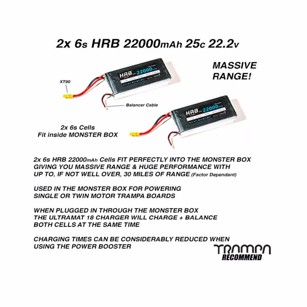 HRB 2 шт 22,2 В 22000 мАч 25C взрыв 50C Lipo батарея для вертолетов Drone Ebike