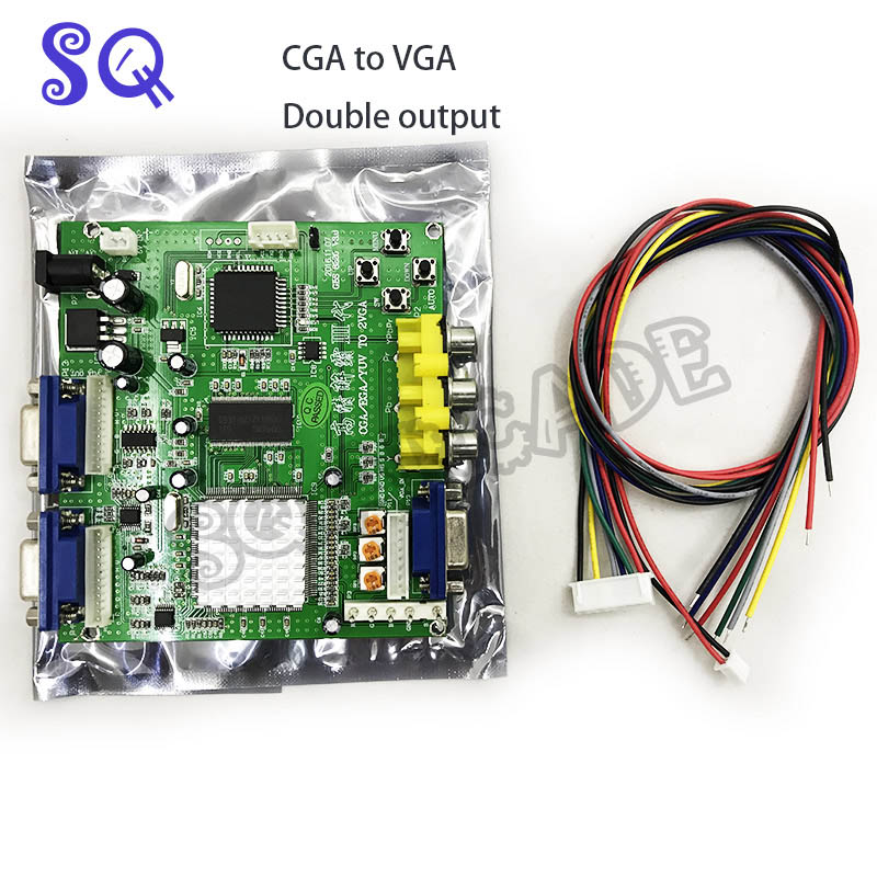 Arcade Game RGB/CGA/EGA/YUV To Dual VGA HD Video Converter Adapter Board GBS-8220