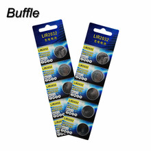 10pcs/2cards Buffle Lithium Rechargeable LIR2032 Button Cell Batteries 3.6V Coin Battery Replace CR2032 BR2032 CR2332