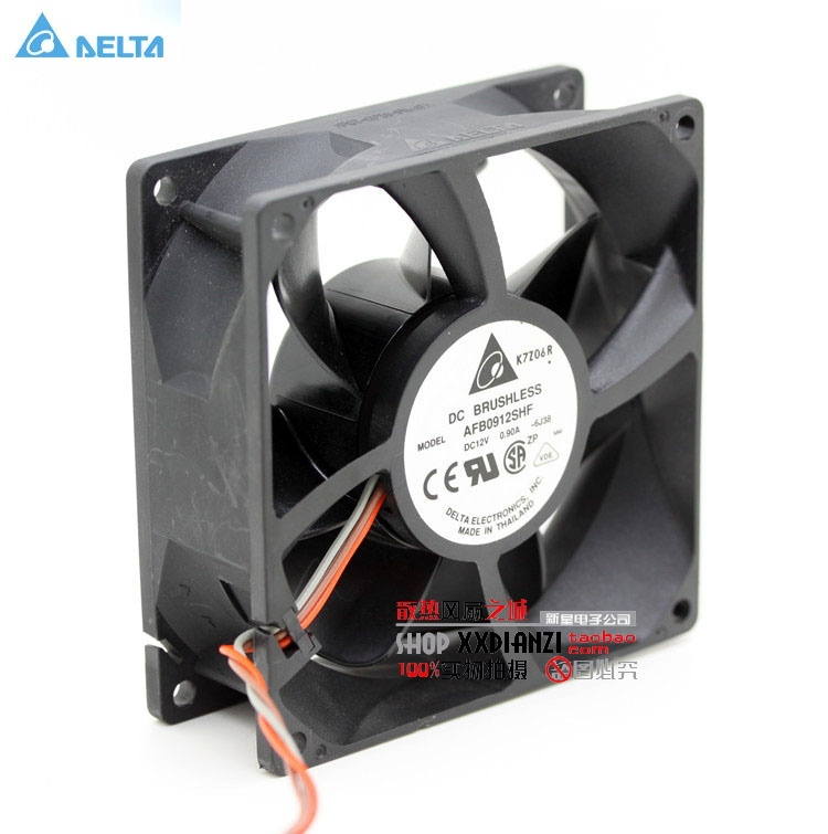 Original Delta AFB0912SHF 9032 9cm 12V 0.90A Dual ball bearing cooling fan original delta afb0912shf 9032 9cm 12v 0 90a dual ball bearing cooling fan