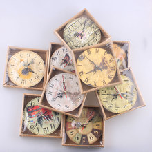 Multi-style Random MDF Wooden Wall Clock Modern Design Vintage Rustic Shabby Chic Home Office Cafe Decoration Art Large Watch G