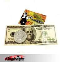 Free Shipping Magic Tricks Coin To Bill USD