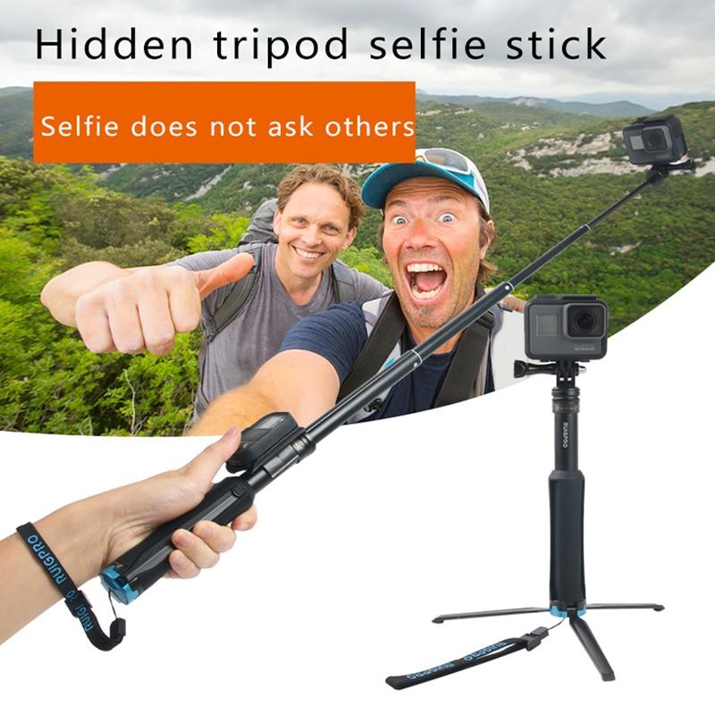 Pour GoPro 7 trépied gopro hero 7 6 5 4 3 selfie bâton tripd Yi mijia SJCAM sj4 sj7 trépied prises de vues sport accessoires