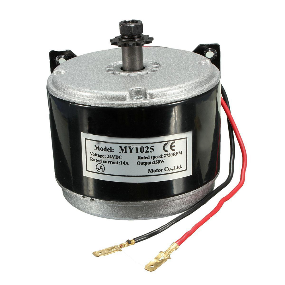 24V Electric DC Motor 11 Teeth Brushed 250W 2750RPM Chain Electro Motor For E Scooter Drive Speed Control Electric Scooters