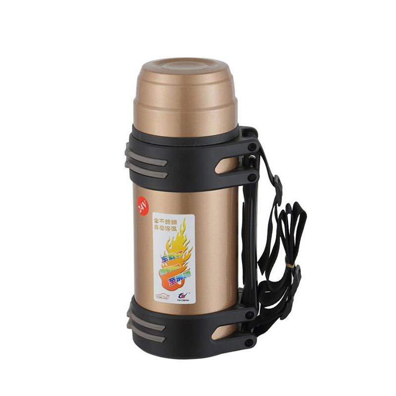 POWERTIGER 850ml 12V Car Based Heating Stainless Steel Cup Travel Coffee Tea Heated Mug Motor Hot Water For Car Or Truck Use automatic mixing cup camera lens stainless steel coffee tea mug travel