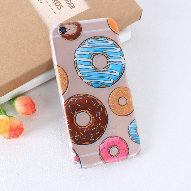 Color Macarons cake Design Fashion soft TPU Phone Cases For iPhone 6 6s TPU Fundas Cover for iPhone SE 5 5s 5G phone bags (3)