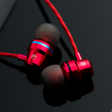 Earphone Ersuki DM1 Headphone Logam Headset Dengan Mikrofon fone de ouvido headset gaming audifonos dj mp3 player