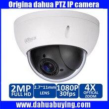 Nueva Dahua 1080 P Mini Cámara del IP del PTZ Al Aire Libre 4X Zoom 2.0MP HD de Red IP CCTV Cámara Domo de Velocidad IR Onvif P2P SD22204T-GN