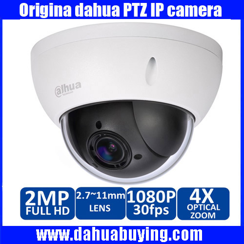 Original Dahua 1080P Mini PTZ IP Camera Outdoor 4X Zoom 2 0MP HD Network Speed Dome