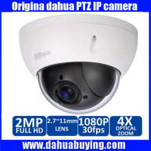 Оригинал Dahua 1080 P Мини PTZ Ip-камера Наружного 4-КРАТНЫЙ Зум 2.0MP HD Сетевая Купольная Камера ИК Поддержка Onvif P2P DH-SD22204T-GN