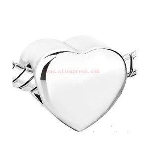 Image 2 - 승화 빈 심장 사진 구슬 금속 슬라이더 큰 구멍 5mm 유럽의 매력 뜨거운 전송 인쇄 재료 15 개/몫