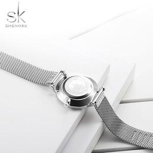 Image 5 - Shengke שעון נשים מקרית אופנה קוורץ שעוני יד קריסטל עיצוב גבירותיי מתנות Relogio Feminino רשת להקת Zegarek Damski 2020