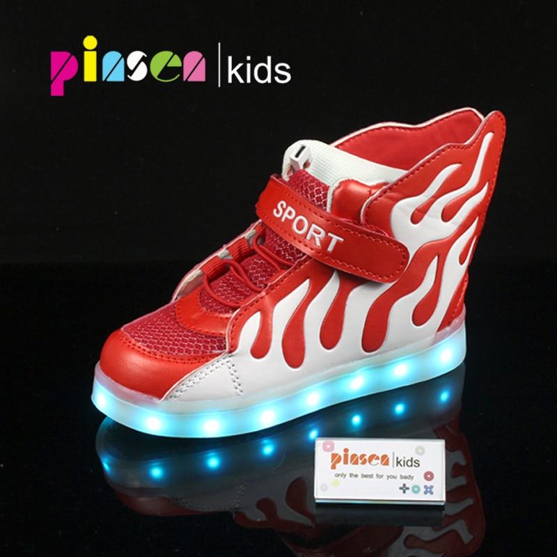 a9d1ef7ed8127 Les enfants d été respirant Sneakers avec lumière Sport Led USB ...