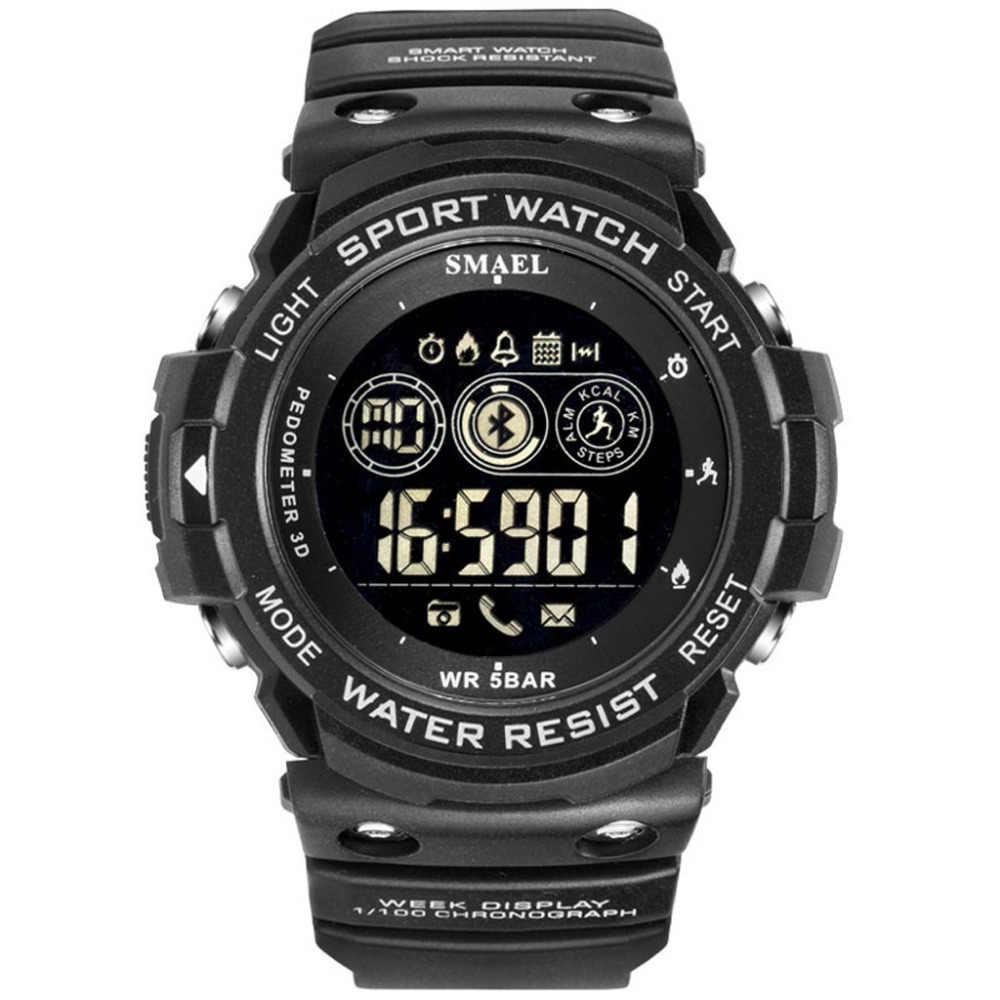 Erkek كول الساعاتي الرياضة أزياء الرجال العمري العسكرية تشغيل لمبة led بلوتوث عرض ساعة رقمية الرجال الساعات relogio الرقمية A50