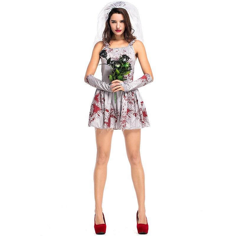 Dead Bride Costume Adult Corpse Halloween Fancy Dress