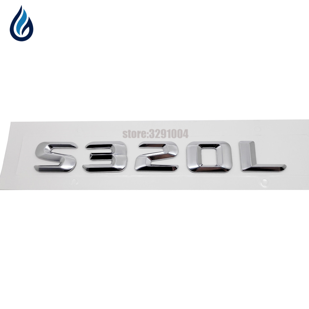 For Mercedes Benz S Class 220SE W111 W116 W126 W140 W220 W221 W222 S320L Car Rear Tail Emblem Number Letters Badge Sticker auto fuel filter 163 477 0201 163 477 0701 for mercedes benz