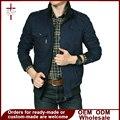 Ropa de los hombres chaqueta corta marca clothing zipper delgado veste homme bomber chaqueta de otoño de algodón abrigos negro/azul/de color caqui